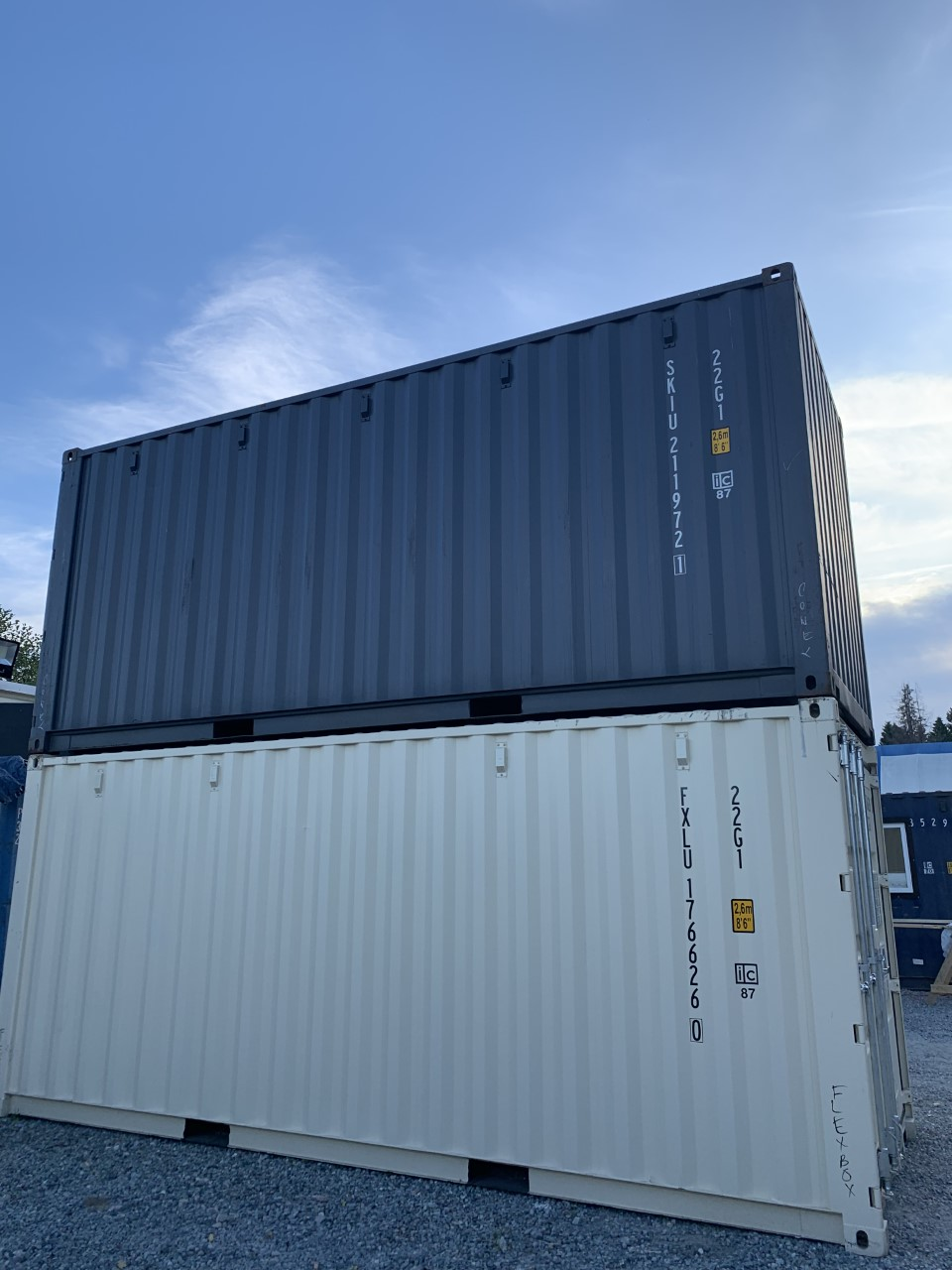 20'STD New (1-trip) Shipping Container - Custom Cubes
