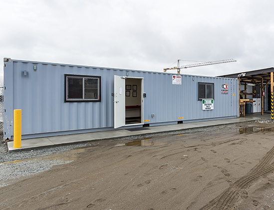 100' of container office & storage space!