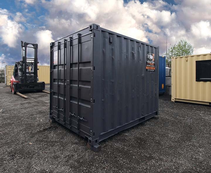 "10' ""Cut Down"" Shipping Container - Custom Cubes"