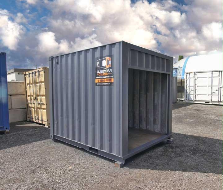 "10' ""Cut Down"" Container + Rollup Door - Custom Cubes"