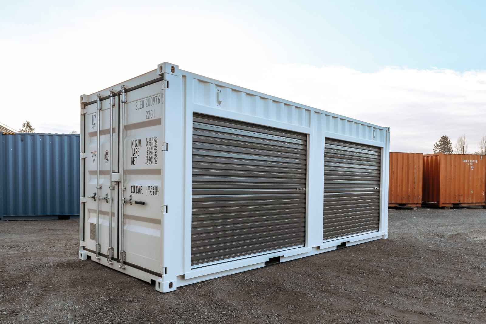 20′ Shipping Container + 2 x 8′ Doors - Custom Cubes