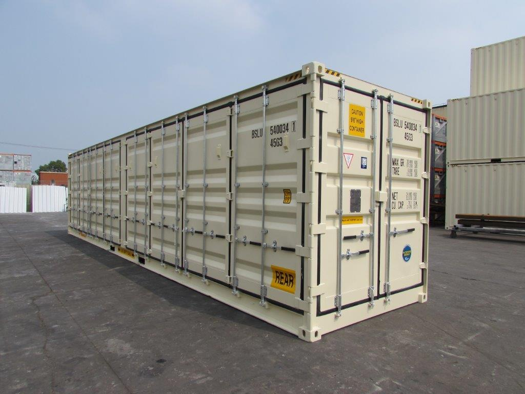 """40' HC """"Openside"""" Shipping Container - Custom Cubes"""
