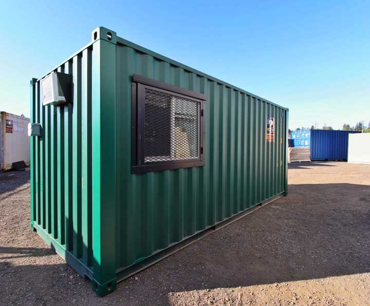 7′ Office Container + Storage Locker - Custom Cubes
