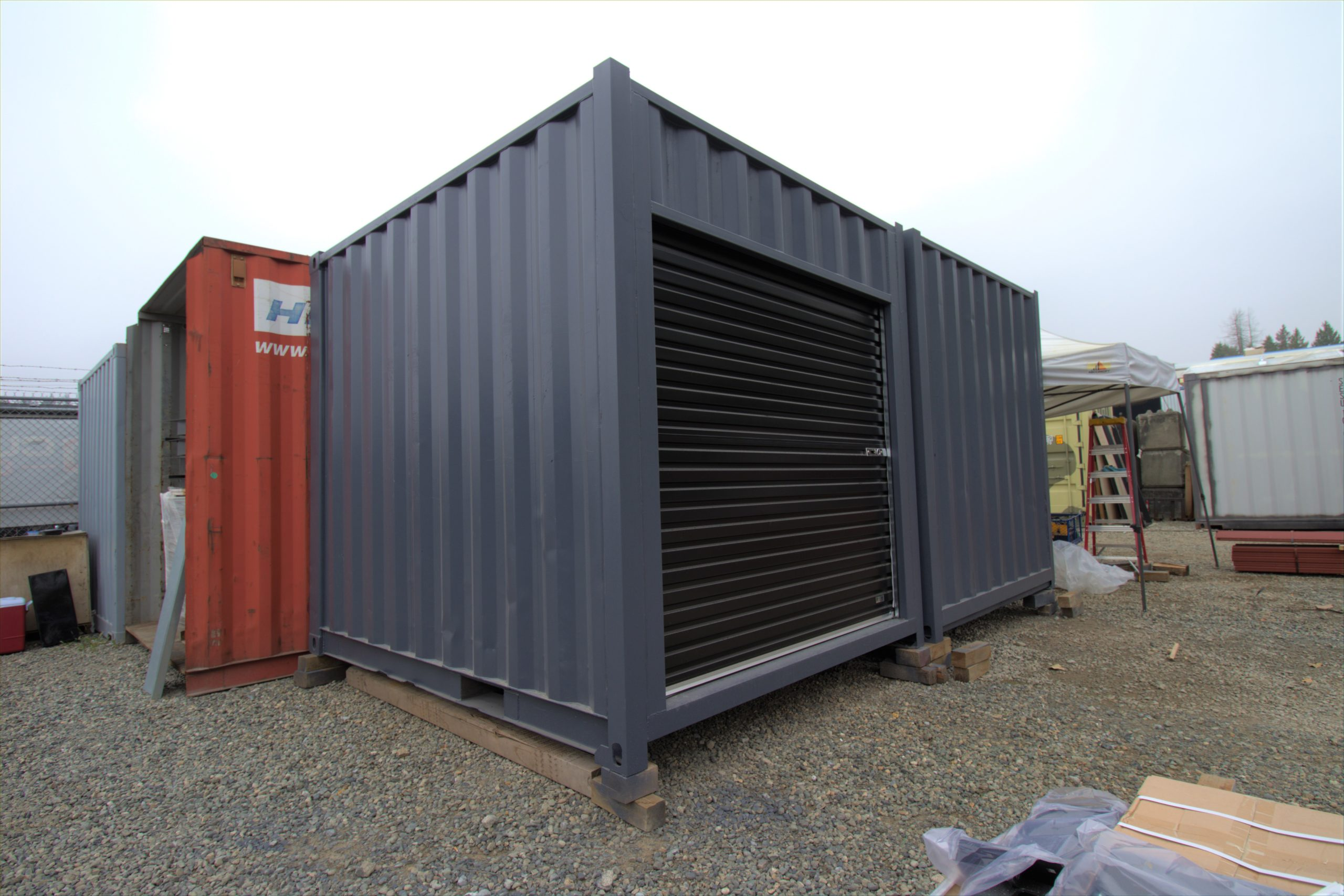 "15' ""Cut Down"" Container + Rollup Door - Custom Cubes"
