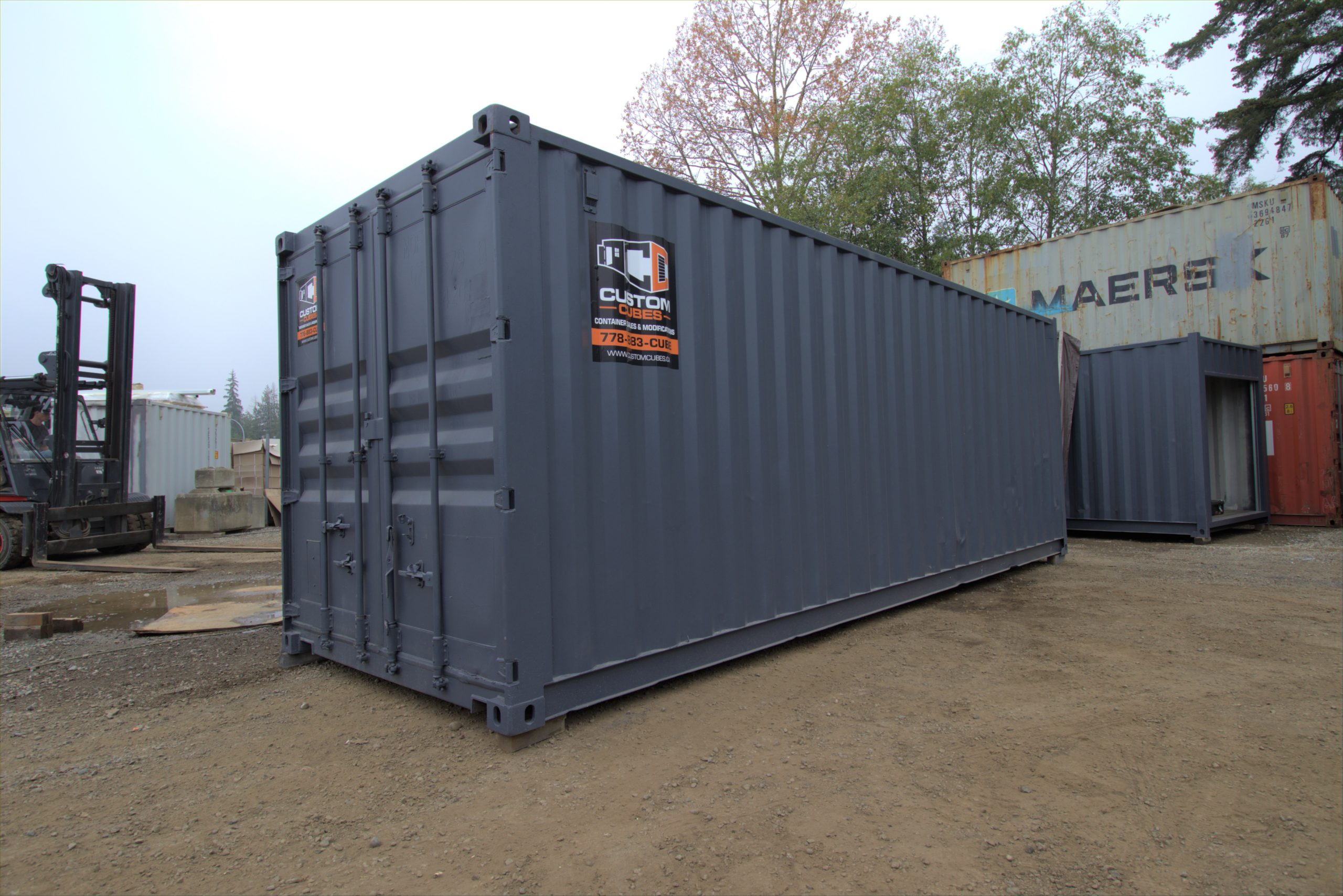 "25′ ""Cut Down"" Shipping Container - Custom Cubes"