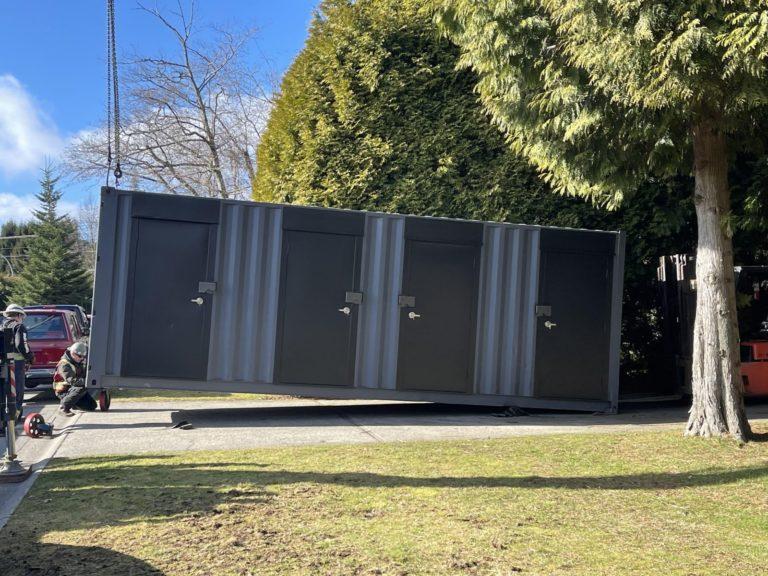 24' Storage unit for a residential 4Plex